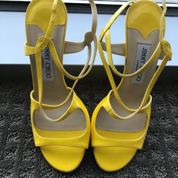 91b5e63d768 Jimmy Choo Shoes - Jimmy choo yellow sandals